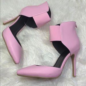 Shoe Republic LA  pastel pink pointy pumps size 10